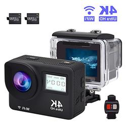 Accfly Sports Action Camera, 4K Waterproof Sport Camera,170