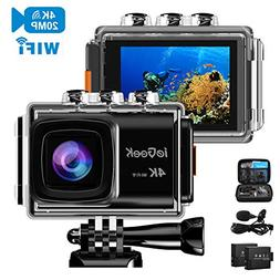 ieGeek Action Camera 20MP 4K WiFi Sports Cam Ultra HD Waterp
