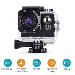 Action Camera,cresawis Sport DV 1080P Mini 30-Meter Waterpro