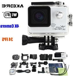 Action Cameras ,AKEDRE® 4k 24FPS Ultra HD Wifi 2.0 Inch 170