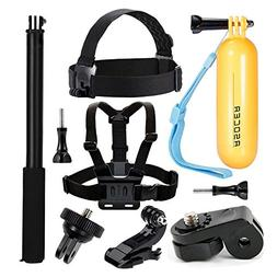 ASOCEA Action Camera Accessory Bundle Kit Chest Mount + Head