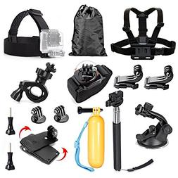TEKCAM Sport Action Camera Accessories Kit Compatible with G