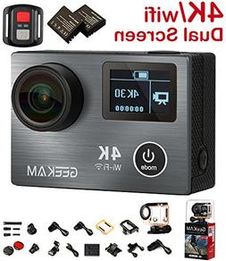 Action Camera Cam, 4K Sport Action Camera Camcorder with Rem