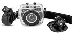 Sharper Image HD Action Cam SVC400 w/ Waterproof Case & Moun