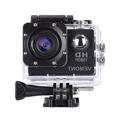 Vemont Action Camera 1080P 12MP Sports Camera Full HD 2.0 In
