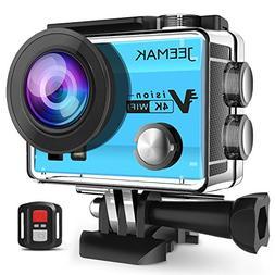 JEEMAK Action Camera 4K Wifi Underwater Cam 16MP Waterproof