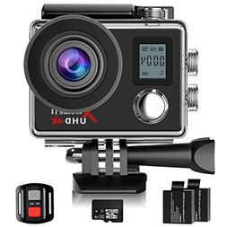 Campark Action Cam, 4K Sport Camera WiFi Underwater Camera H