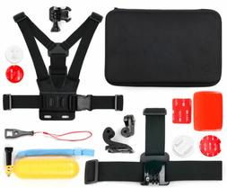 Action Camera 14-in-1 Accessories Bundle W/ Case for KIPTOP