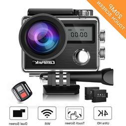 Campark 20MP Waterproof 4K Action Camera Camcorder +Remote C
