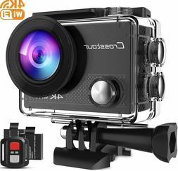 Crosstour Action Camera 4K 20MP WiFi Vlogging Camera Underwa