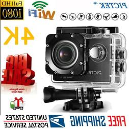 PICTEK Action Camera 4K Ultra 1080P WiFi Sports Cam DV Camco