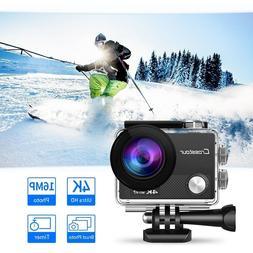 CROSSTOUR Action Camera 4K WIFI Underwater Cam 16MP Ultra HD