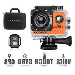 4K WIFI Action Camera Touchscreen, SOOCOO S100 Pro Sports Ca