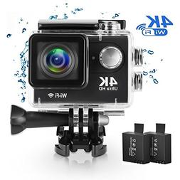 Action Camera 4K Wi-Fi 16MP Full HD 1080P Waterproof Cam wit