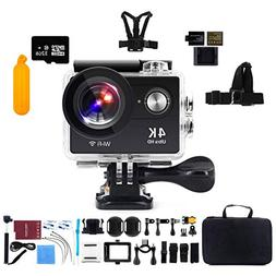 "Action Camera 4K WiFi with 32G Micro SD Card, Kebo 2.0"" LCD"