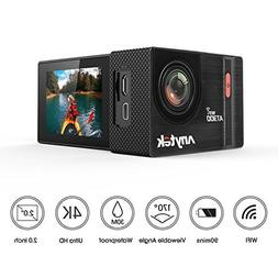 Action Camera 4K WiFi Sports Cam 20MP 2.0 Inch, Anytek AT300
