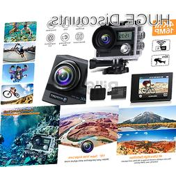 FITFORT Action Camera 4K 16 MP Wi-Fi Ultra HD Waterproof Spo