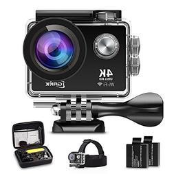 iGANK Action Camera 4K WiFi Waterproof Sports Camera Full HD