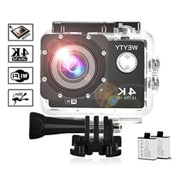 Action Camera WeyTy X6S 4K 30m Underwater Camera 16MP Wifi S