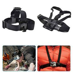 Adjustable Head Strap+Chest Strap Mount Accessories For GoPr