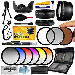 25 Piece Advanced Lens Package For The Nikon 1 AW1 J1 J2 V1