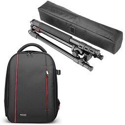 "Alluminum Alloy Camera Tripod Monopod 62"" and Waterproof Cam"