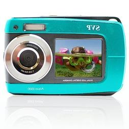 SVP Aqua 5500 Blue 18MP Dual Screen Waterproof Digital Camer