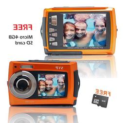 SVP Aqua 5800 Orange  18 MP Dual Screen Waterproof Digital C