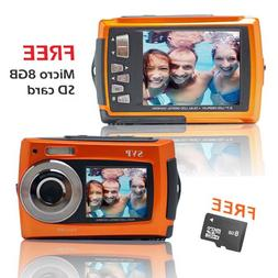 SVP Aqua 5800 Orange  18MP Dual Screen Waterproof Digital Ca