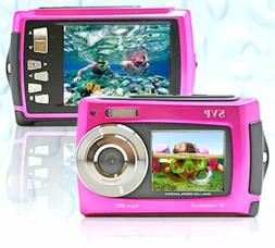 SVP Aqua 5800 Pink 18MP Dual Screen Waterproof Digital Camer