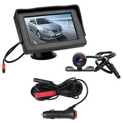 B-Qtech Mini Backup Camera and 4.3 Monitor Kit Rear View Rev