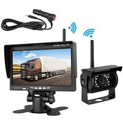 Emmako Backup Camera Wireless and 7'' Monitor Kit For RV/Tru