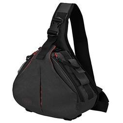 CADeN DSLR Camera Sling Bag for 1 Camera, 2 Lens, Tripod, Ra