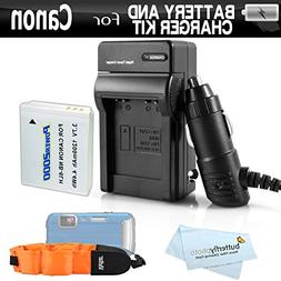 Battery And Charger Kit For Canon PowerShot D10 D20 D30 Wate