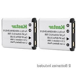 Kastar Camera Battery D-LI63 2-Pack for Pentax Optio L36, Op
