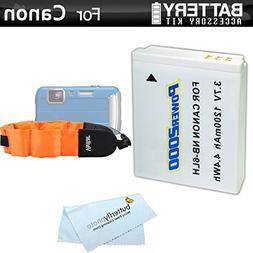 Battery Kit For Canon PowerShot D10 D20 D30 Waterproof Digit