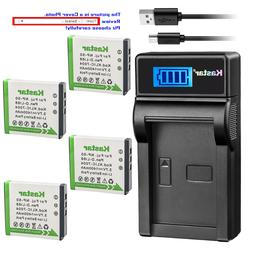 Kastar Battery LCD Charger for Pentax D-LI68 D-LI122 & Penta