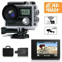 Bike 4K 16MP HD Sports Action Camera wifi Waterproof Helmet
