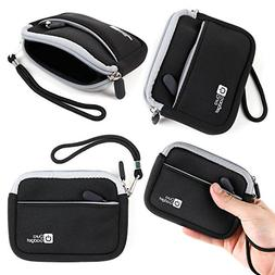 DURAGADGET Black Compact Camera Case With Secure Zip Closure