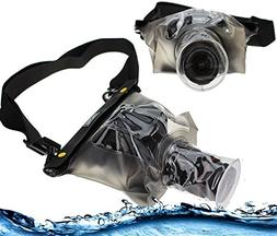 Navitech Black Waterproof Underwater Housing Case/Cover Pouc