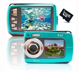 SVP Blue Aqua5500  18MP Underwater Digital Camera with Two S