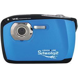 Blue Waterproof Digital Camera Bell +Howell WP16 16.0MP Spla