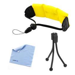 BIRUGEAR Bright Yellow Foam Floating Wrist Strap + Mini Trip