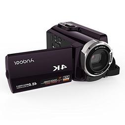 Video Camcorder, Andoer 4K Camcorder 48MP Digital Video Came