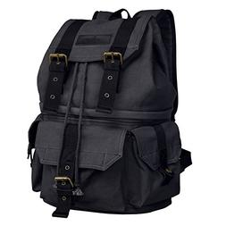 S-ZONE Canvas DSLR SLR Camera Shoulder Bag Backpack Rucksack