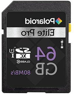 64 GB Class 10 SD Card - SDHC UHS-I, U1 Memory Flash Card -
