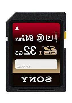 Sony 32GB Class 10 UHS-1/U3 SDHC up to 94MB/s Memory Card
