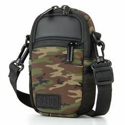 Compact Camera Bag with Waterproof Rain Cover , Belt Loop &