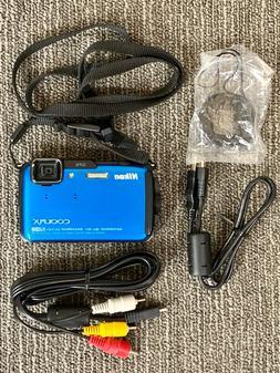 Nikon COOLPIX AW110 16.0MP Digital Camera - BLUE /4GB SD MEM