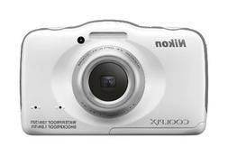 Nikon COOLPIX S32 13.2 MP Waterproof Digital Camera with Ful